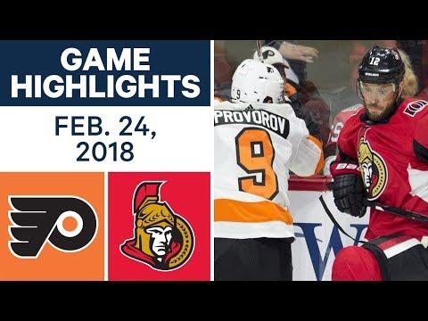NHL Game Highlights | Flyers vs. Senators - Feb. 24, 2018