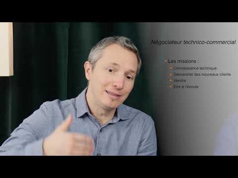 Video Votre métier Négociateur technico Commercial