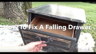 DIY Hack Fix a Falling Drawer - Drawer Falling out & Tilting down?