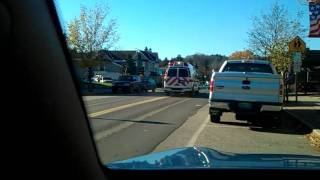 preview picture of video 'EMS taking a call after other ambulance had crashed into a car'