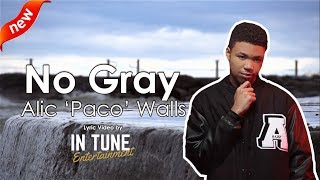Alic 'Paco' Walls - No Gray - Jonathan McReynolds Cover Lyrics / Lyric Video (Audio)