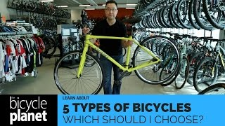 The Five Types Of Bikes