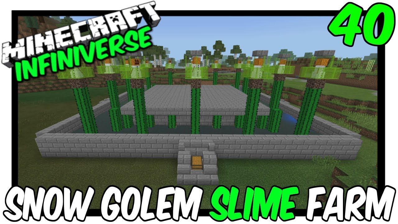 'Snow Golem Powered Slime & Mob Farm' [40] Minecraft Bedrock