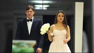 Bridesmaid Mila Kunis Looks Gorgeous With Ashton Kutcher at Her Brother's Wedding   Splash News TV