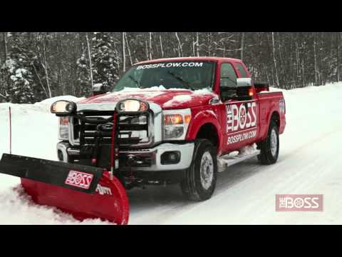 Straight-Blade Trip-Edge Snow Plow in Action