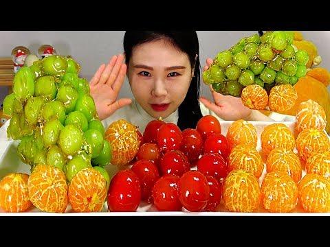 SUB 탕후루 샤인머스켓 송이토마토 귤 과일 TANGHULU! Shine Muscat Cocktail Tomato Tangerine Tanghulu Mukbang 먹방