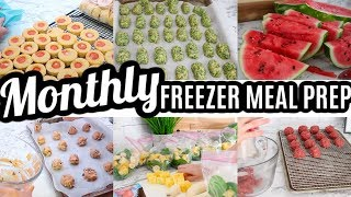 EASY MONTHLY FREEZER MEAL PREP | LARGE FAMILY MEALS | COOK WITH ME