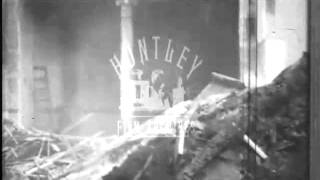 Preparing to build a skyscraper in New York, 1950's.  Archive film 94158