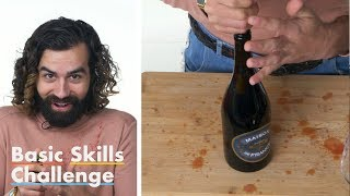 50 People Try to Open a Bottle of Wine   Epicurious