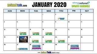 IRS Wheres my Refund? January 2020 Update Schedule