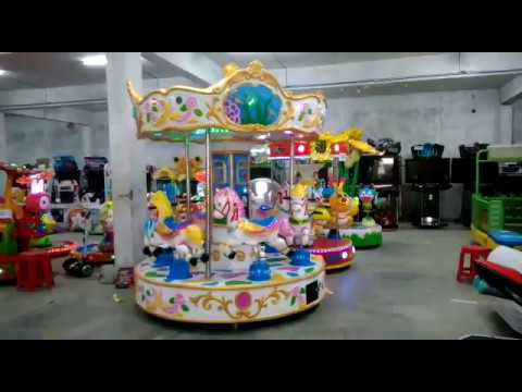 Horse Carousel Kiddie Amusement Ride Game - Multi