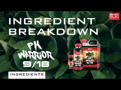 Ingredients Breakdown SHOGUN PK Warrior - Phosphorus and Potassium Additive