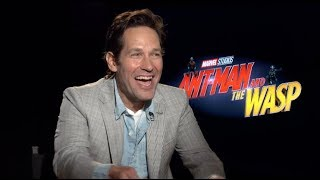 ANT-MAN AND THE WASP interviews - Paul Rudd, Evangeline Lilly, Douglas, John-Kamen, Reed