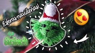 Esferas Navideñas Tejidas   El Grinch   Navidad 2018