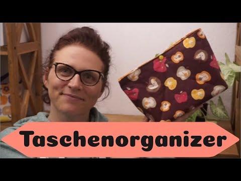 Taschenorganizer nähen / kostenloses Schnittmuster