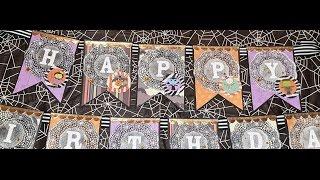 DIY Halloween Birthday Banner