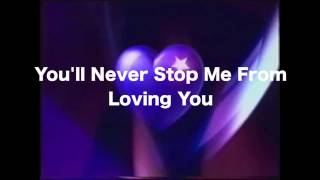 You'll Never Stop Me From Loving You