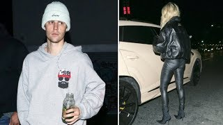 Hailey Baldwin Rocks Tight Black Leather For Burger Date With Justin Bieber