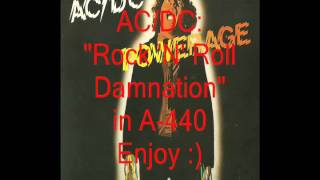 "AC/DC ""Rock 'N' Roll Damnation"": Retuned A-440 Version"