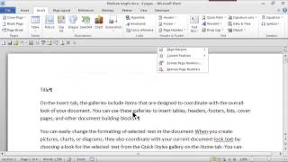 How to Make Headers & Consecutive Page Numbers Using Word : MS Word Skills