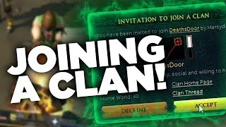 JOINING A CLAN! ⚔️ROAD TO MAX #4 ⚔️ Runescape 3 Series