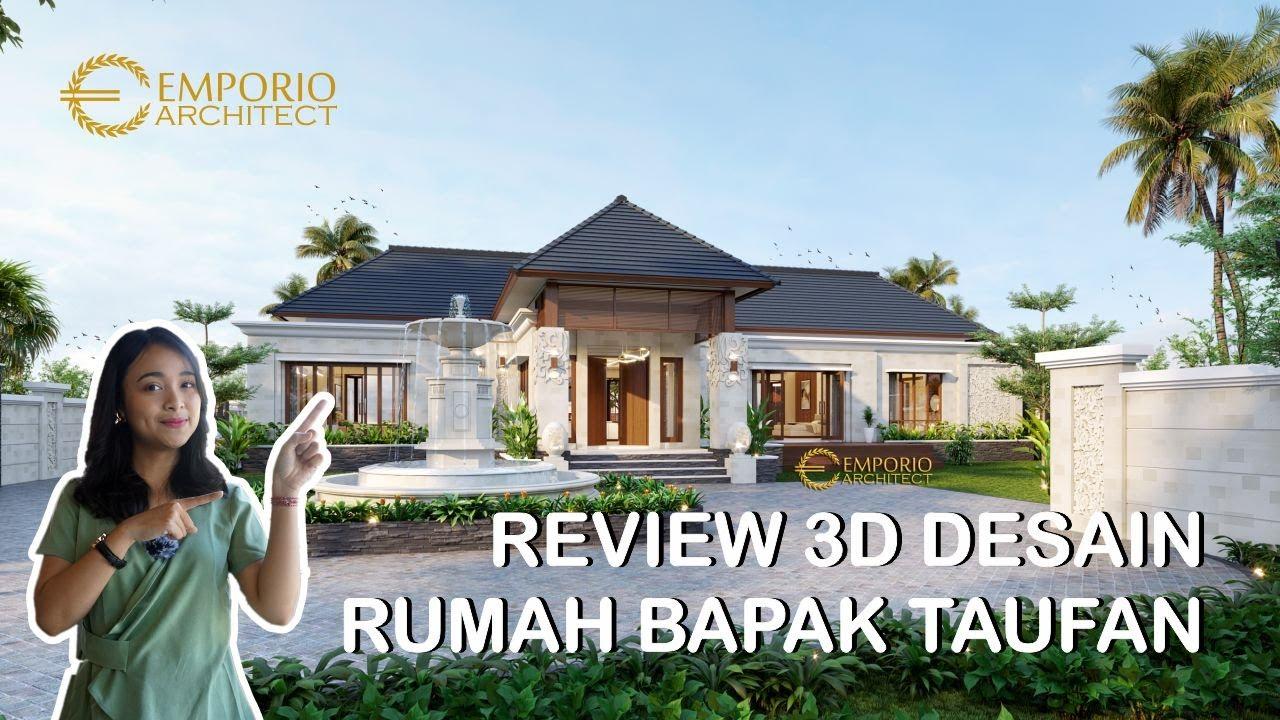 Video 3D Desain Rumah Villa Bali 1 Lantai Bapak Taufan di Jember, Jawa Timur