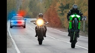 Street Racers Police Chases FAILS & WINS 2018 - Motorcycle Cops Compilation