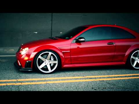 "MERCEDES BENZ CLK63 AMG BLACK SERIES ON 20"" CONCAVO CW-5 DEEP CONCAVE WHEELS / RIMS TEAMCONCAVO"