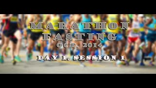 preview picture of video 'Marathon Fasting Oct. 2014 -Session 1.1'