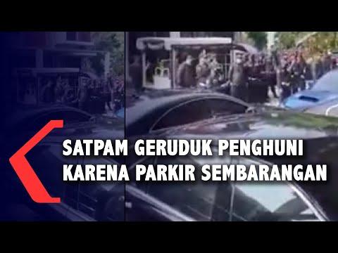 viral video satpam geruduk penghuni rumah gara-gara penuh mobil
