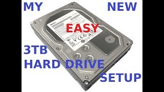 Hitachi 3TB HDD review and setup help