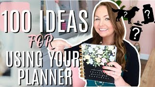100 Ideas for How to Use Your Planner | Happy Planner