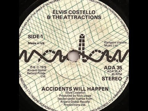 """ELVIS COSTELLO & THE ATTRACTIONS: """"ACCIDENTS WILL HAPPEN"""" [Lyrics Included]/ 5-4-1979. (HD)"""