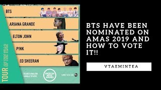 BTS have been Nominated on AMAs 2019 and How to Vote it!
