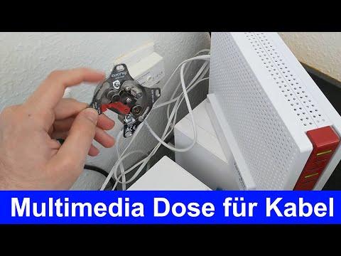 Anleitung: Kabel Internet Multimedia Dose installieren BSD 963-11N