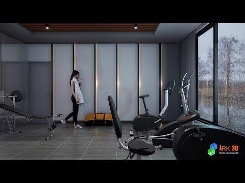 Twinmotion 2019 - Gym 3d Animation - смотреть онлайн на Hah Life