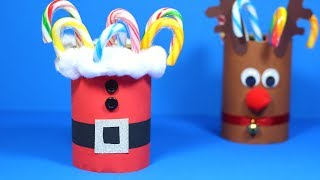 How To Make A Santa Candy Holder | Christmas Crafts For Kids