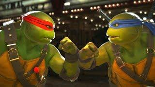 Injustice 2 - TMNT Raphael Vs Leonardo -  All Intro Dialogue/All Clash Quotes, Super Moves
