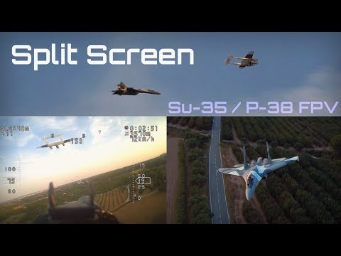 fpv-su35--p38-formation-flight-in-split-screen--hd-50fps