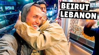 War In Beirut & THIS Restaurant Stayed Open! Lebanon Travel Vlog