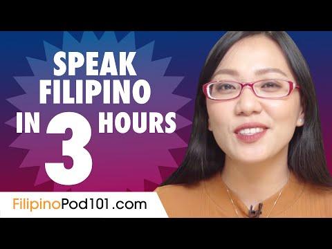 Learn How to Speak Filipino in 3 Hours - YouTube