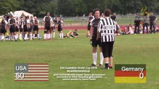 Quidditch World Cup 2016 - USA vs. Germany - Pool Play