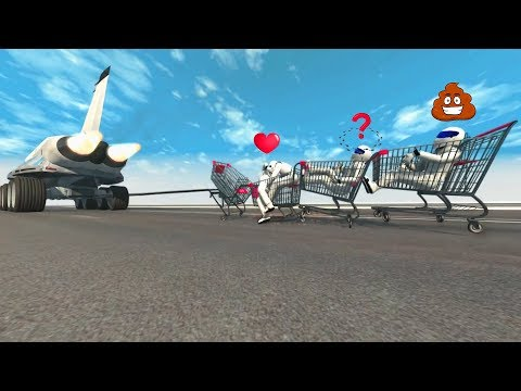 BeamNG Drive High Speed Crazy TOWING (Cars Dragging) | Crash Therapy