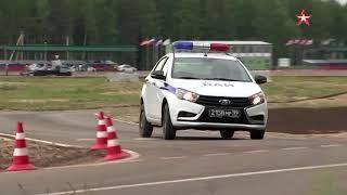 Экстремальное вождение на конкурсе «Дорожный патруль»
