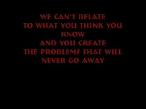 Three Days Grace- Overrated Lyric Video