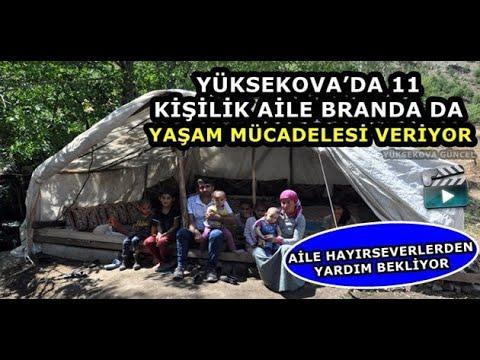 Yüksekova'da 11 Kişilik Aile Branda da Yaşam Mücadelesi Veriyor