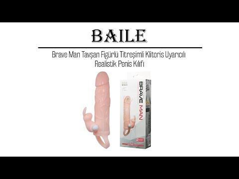 Brave Man Tavşan Figürlü Titreşimli Klitoris Uyarıcılı Realistik Penis Kılıfı