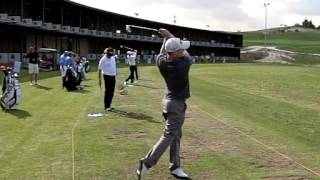 Alex Noren Golf Swing In High Speed From Face On