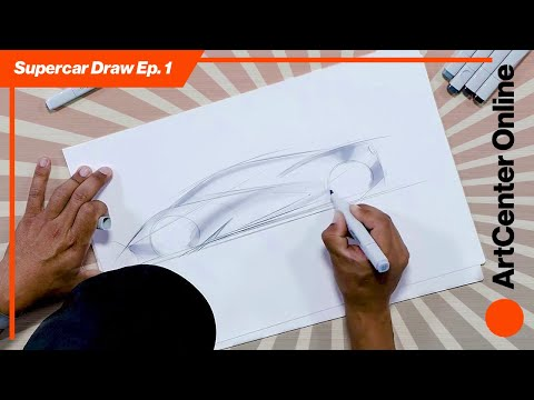 ArtCenter Online   How to Draw A Supercar   Sketch Tutorial Part 1