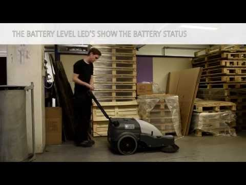 Battery Operated Walk Behind Sweeper